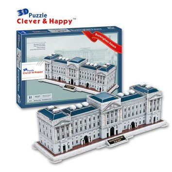 2014 new clever&happy land 3d puzzle model  Buckingham Palace adult puzzle diy model educational toys paper learning & education