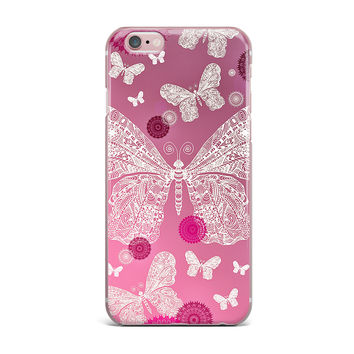 "Monika Strigel ""Butterfly Dreams Pink Ombre"" Magenta iPhone Case"