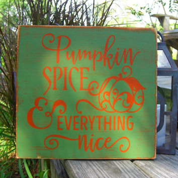 Autumn Fall Home Decor,Fall Decorations,Pumpkin Spice,Fall Porch Decor,Fall Signs,Thanksgiving Decor,Fall Wooden Signs,Signs for Fall