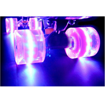 CHI YUAN 1Set (4 pcs) Blank Pro 60 x 45mm Cuiser LED LIGHT UP Wheels fits 22 Inch Skateboard Skate Fish Board Longboard