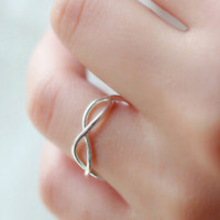 925 sterling silver Weave opening ring ,personalized fashion ring ,a perfect gift