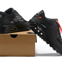 OFF-WHITE x Air Max 90 Black Shoe Size 36-46