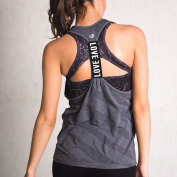 Ready For It Racerback Activewear Top (Grey)