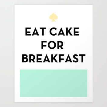 Eat Cake For Breakfast Wall Decor