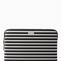 fairmont stripe laptop zip sleeve