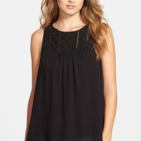 Lucky Brand Embroidered Surplice Back Shell | Nordstrom