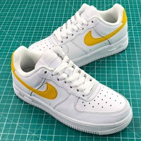 Nike Air Force 1 Low Af1 White Yellow Sport Shoes - Best Online Sale