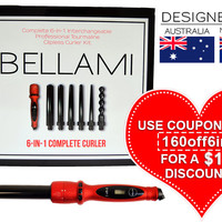 BELLAMI 6 in 1 Complete Curler Set (AUS & NZ) by Clip-In Hair Extensions | Professional Hair Styling Tools | Haircare by BELLAMI Hair | Clip-In Hair Extensions | Professional Hair Styling Tools | Haircare by BELLAMI Hair