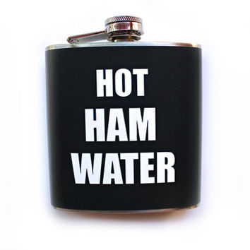 Hot Ham Water Flask Arrested Development Inspired Lindsey Bluth Funny Humor Stainless Steel Liquor Flask