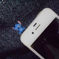 LILO STITCH 3.5mm dust plug ear phone. Let's decorate the phone