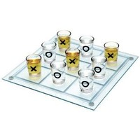 "Maxam SPTTT 9-3/4"" x 9-3/4"" Shot Glass Tic Tac Toe Game"
