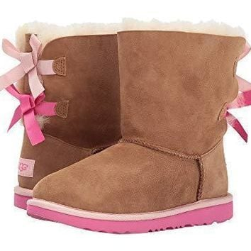 UGG Bow Leather Shoes Boots Winter Half Boots Shoes-2