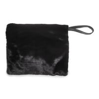 H&M - Faux Fur Clutch Bag - Black - Ladies