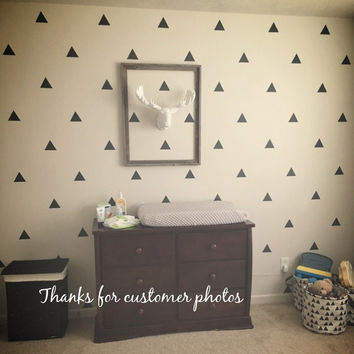 Triangles Wall Sticker iWall Sticker Baby Nursery Triangles Wall Decal Removable Easy Wall Art DIY Cut Vinyl P4