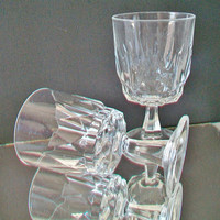 Vintage Acroroc France Wine Glass Artic Water Goblet Holiday Dining Glasses