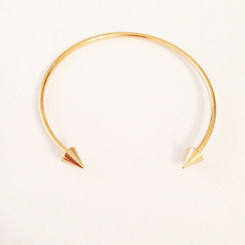 Open cuff bangle, Cuff Bangle, Open Bangle, Boho Bangle, Stud Cuff Bangle, Silver Cuff Bangle, Gold Cuff Bangle, Adjustable Bangle