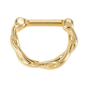 Gold Twist Septum Clicker