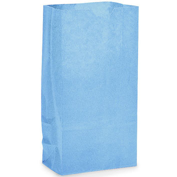 12 Blue Lunch Bag Paper Favor Treat Bag
