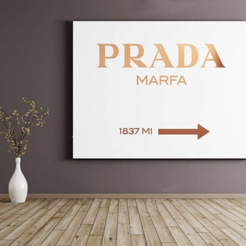 Prada Marfa Print Prada Marfa Art Prada Marfa Watercolor Gossip Girl  Prada Marfa Decor Gossip Girl Fashion Fashion Print Bedroom Prada Sign
