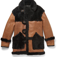 Coach - Leather-Trimmed Two-Tone Shearling Coat | MR PORTER