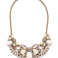 Ornate Faux Stone Bib Necklace