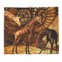 Society6 Three Giraffes Blanket