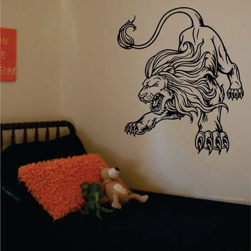 Lion Version 6 Design Animal Decal Sticker Wall Vinyl Decor Art