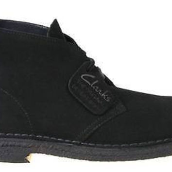 Clarks Originals Mens Desert Boots Black Suede 26107882