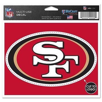 "San Francisco 49ers Official NFL 4.5""x5.75"" MultiUse Car Decal Wincraft"