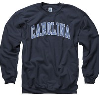 North Carolina Tar Heels Adult Classic Arch Crewneck Sweatshirt Size: XX-Large