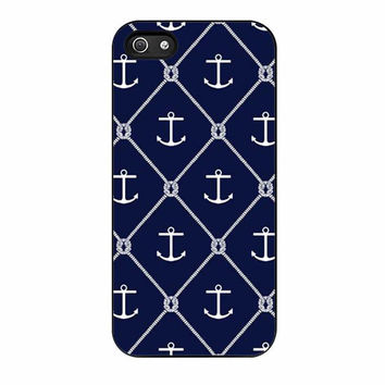 navy anchors cases for iphone se 5 5s 5c 4 4s 6 6s plus