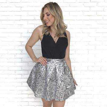 Glamour Hour Silver Skirt