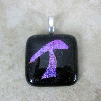 Initial Pendant Initial Glass Pendant Dichroic Initial T, Tea for Two by mysassyglass