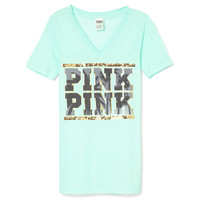 NEW! Bling V-neck Tee