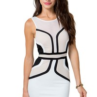 Optic Colorblock Bodycon dress