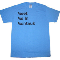 Eternal Sunshine Shirt Meet Me In Montauk (Youth and Adult Sizes Available) Light Blue Valentine's Day