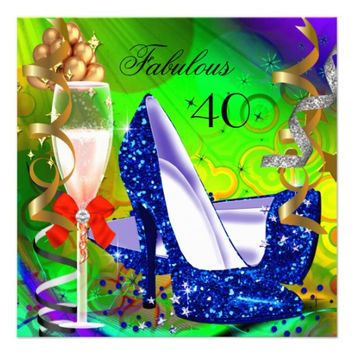 Fabulous Colorful Abstract Glitter High Heel Party