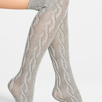Nordstrom Over the Knee Cable Socks   Nordstrom