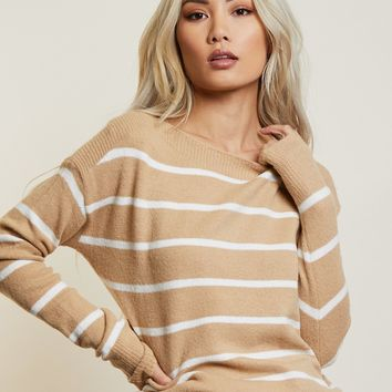 Keep It Neutral Striped Top