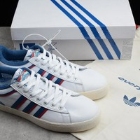 "Adidas x Alltimers ""White&Blue"" Running Shoes CG5128"