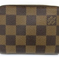 Auth Excellent Louis Vuitton Damier Ebene Zippy Coin Purse N63070 PVC 48067