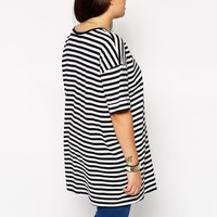 ASOS Curve | ASOS CURVE Oversized T-Shirt in Stripe at ASOS