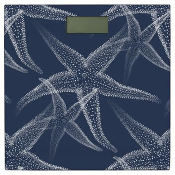 Starfish Navy Beach Bathroom Scale