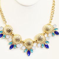 Navy Radha Necklace Set