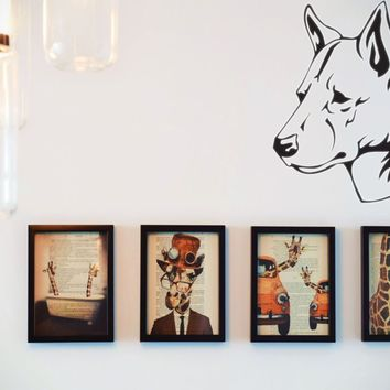 Canaan Dog Vinyl Wall Decal (Removable Sticker)