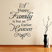 Wall Decal Vinyl Sticker Quote Lettering Words Saying Bedroom Living Room B574