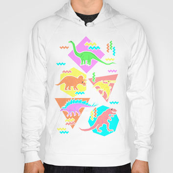 Nineties Dinosaur Pattern Hoody by Chobopop