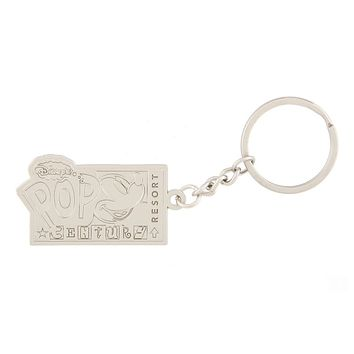 Disney Parks Pop Century Resort Metal Keychain New with Tags