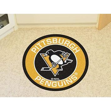 "NHL -  Pittsburgh Penguins Roundel Mat 27"" diameter"