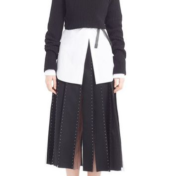 Valentino Crop Wool & Cashmere Turtleneck Sweater | Nordstrom